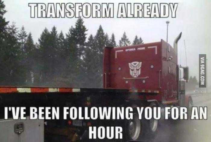 transformer truck meme