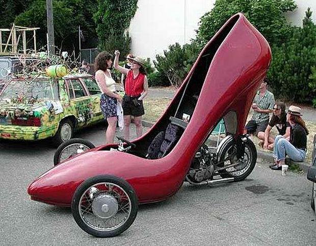 high heel shoe diy car
